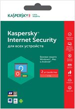 Kaspersky Internet Security Russian Edition. 2-Device 1 year Base Retail Pack